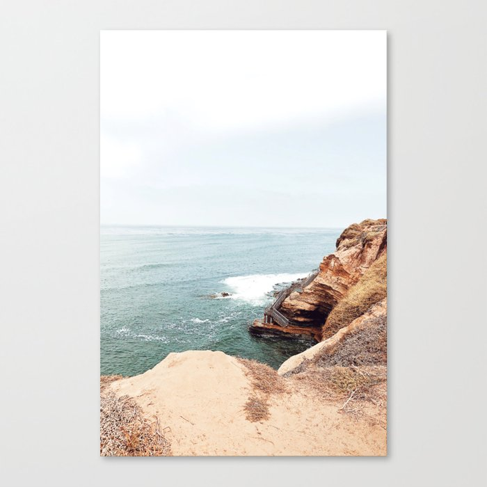 Cliffside Stairs Canvas Print