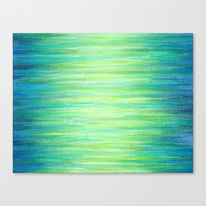 Blue Green Ombre Art Painting Print Canvas Print By Julia