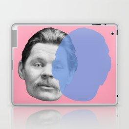 Maxim Gorky - pink blue portrait Laptop & iPad Skin