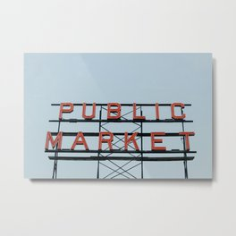 Seattle Staple Metal Print