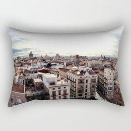 A Walk Across The Rooftops Rectangular Pillow