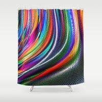 aurora Shower Curtains featuring Aurora by David  Gough