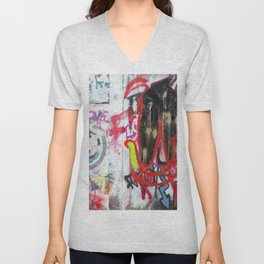 Colorful Graffiti Unisex V-Neck