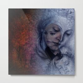 same but different - woman and child Metal Print