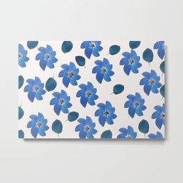 Blue tropical flower Metal Print