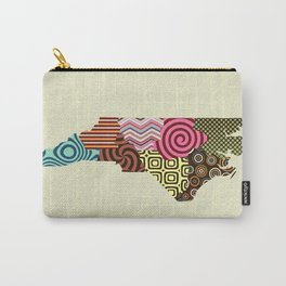 North Carolina State Map Carry-All Pouch