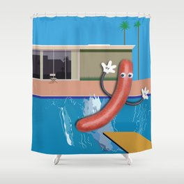 With Apologies to Hockney Shower Curtain