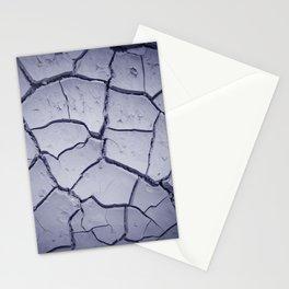 cracked land Stationery Cards
