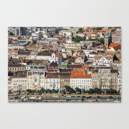 Budapest from Above Canvas Print