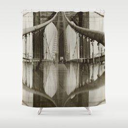 Brooklyn Bridge Black and White Photograph Shower Curtain