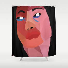 Rose Exists in the Dark Shower Curtain