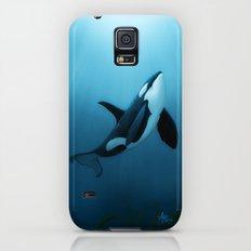 The Dreamer  ~ Orca ~ Killer Whale Art by Amber Marine Slim Case Galaxy S5