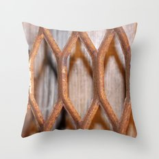 Rusted Steel Faded Wood Throw Pillow