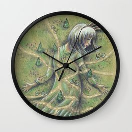 Bunny Girl I:  All Roads Lead to Within Wall Clock