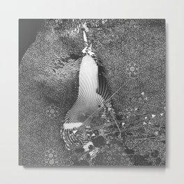 czarna gruszka Metal Print