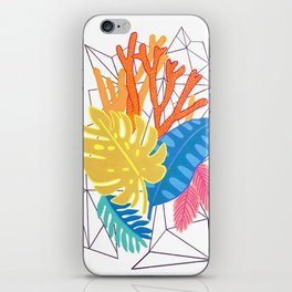 Leaves and corals iPhone Skin