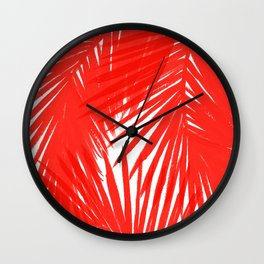 Palms Red Hot Wall Clock