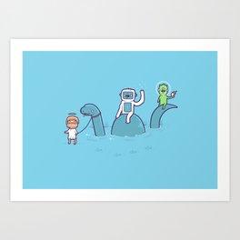 Mythical Creatures Art Print