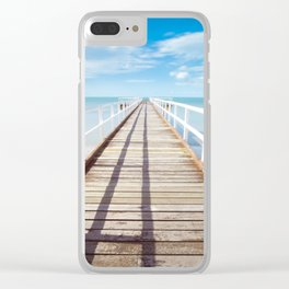 Beach Dock Clear iPhone Case