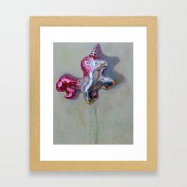 Unicorn Balloon Framed Art Print