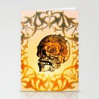 sugar skull Stationery Cards featuring Sugar skull by nicky2342