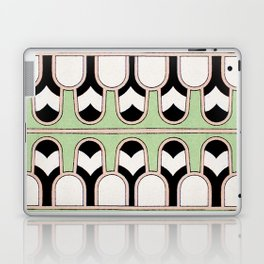 Vintage Mint Green Assyrian Pattern with a hint of Art Deco Laptop & iPad Skin