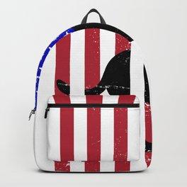 USA Flag Labrador Backpack