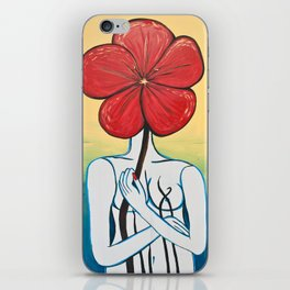Lady Flower #2 iPhone Skin