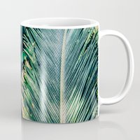 palm tree Mugs featuring Palm Tree by Pati Designs & Photography