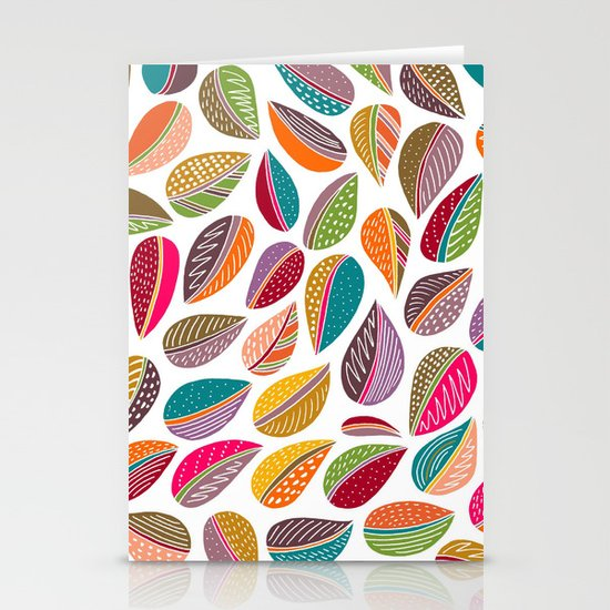 Leaf Colorful Stationery Cards