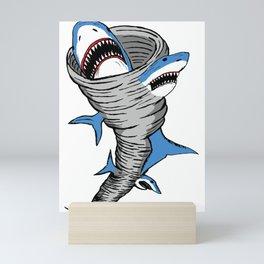 Shark Tornado Mini Art Print