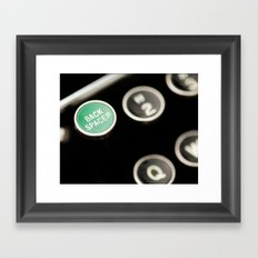 Back Spacer Framed Art Print