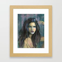 Adolphine Wolf Woman Original Framed Art Print