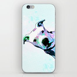 Pit bull - Puzzled - Pop Art iPhone Skin