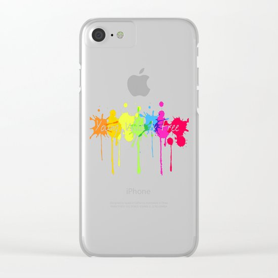 Young, Wild and Free Clear iPhone Case