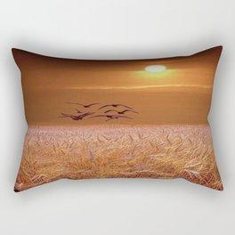 bird and yellow Rectangular Pillow