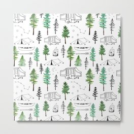 Camping and Trees Metal Print