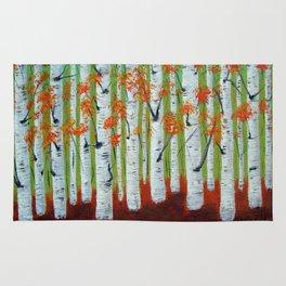 Atumn Birch trees - 5 Rug