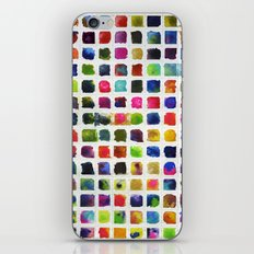 Watercolor Squares iPhone & iPod Skin