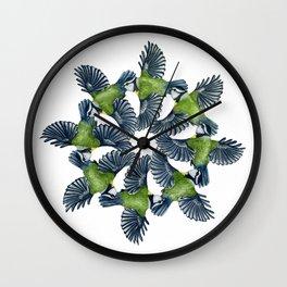 Circling Blue Tits Wall Clock