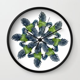 Circling Blue Tits Wall Clock