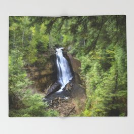 Miners Falls, Munising, Michigan. Throw Blanket
