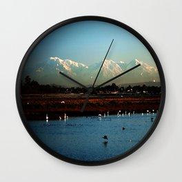 Bolsa Chica Wetlands Huntington Beach, California Wall Clock