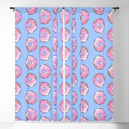 Pink Strawberry Donut Blackout Curtain