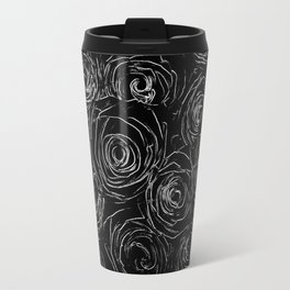 Black White Abstract Travel Mug