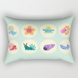 Hermit crab & starfish Rectangular Pillow