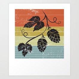 Retro Color Berry Craft Beer Art Print