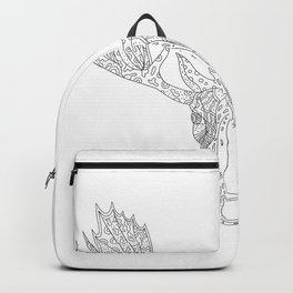 Bull Moose Head Doodle Backpack