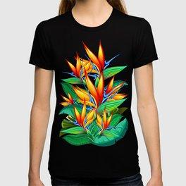 Bird of Paradise Flower Exotic Nature T-shirt