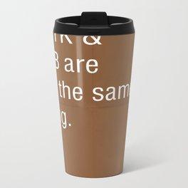 Pantone, CMYK & RGB are not the same thing. Metal Travel Mug